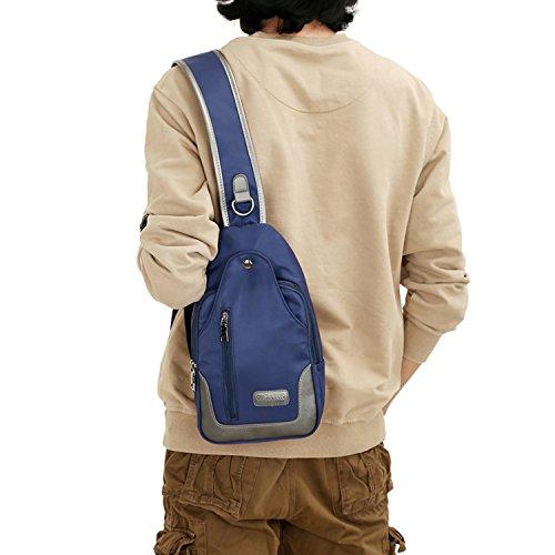 MeCooler Umhängetasche Brusttasche Kleine Freizeittasche Schultertasche Damen Tasche Herren Bauchtasche Sporttasche Reisetasche für Sport Blau