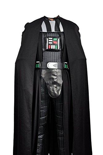 Costume da cosplay di Darth Vader (Dart Fener) dal film Star Wars del 2016, in versione nera. Costume per adulti da Halloween, senza elmetto