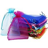 Pride Kings 100 Stück Organzabeutel   Organzasäckchen   Geschenkverpackung   Schmuckbeutel   in feinster Qualität   10 x 1 x 15 cm   20 verschiedenen Farben