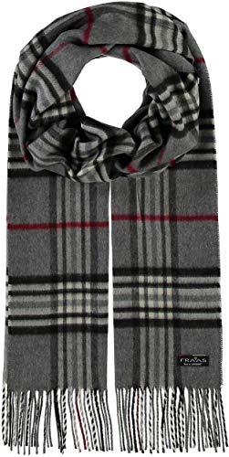 FRAAS Schal aus reinem Cashmink für Damen & Herren - Made in Germany - XXL-Schal - The Plaid - weicher als Kaschmir - Perfekt für den Winter Grau