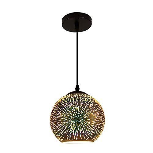 Barbara Creative 3D Farbe Glaskugel Kronleuchter, Kunst Pendel Lampe, Wohnzimmer-Restaurant-Western Hall-Bar Tisch, 20Cm [Energieniveau A] (Western-tisch-lampen)