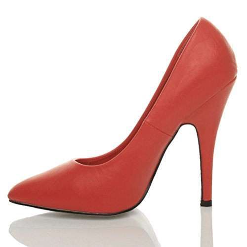 Geschäft Grund Mattes Rot Schuhe Spitzschuh Pumps Größe Ebene Abend Unternehmen Damen gqvtCXwW