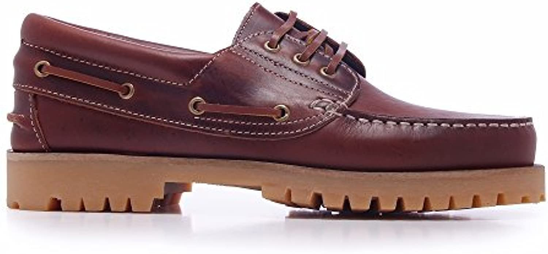 Castellanisimos Leder Bootsschuhe Herren Mokassins Burgund