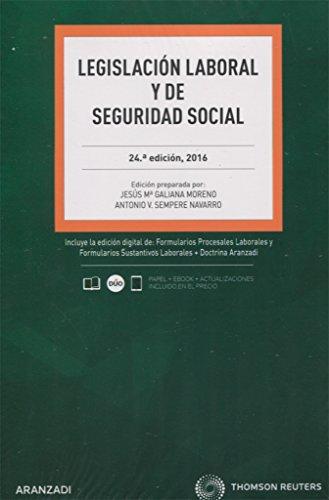 Legislación Laboral y de Seguridad Social (Papel + e-book) (Código Básico) por Jesús Mª Galiana Moreno