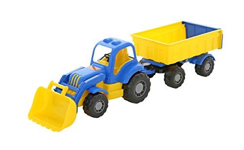 Polesie Polesie45027 Mighty - Tractor de Juguete con Remolque