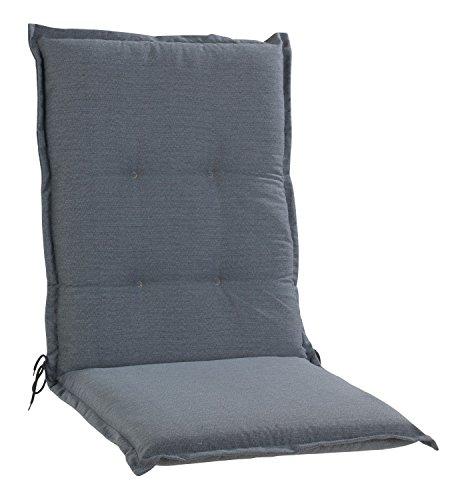 Sesselauflage Sitzpolster Gartenstuhlauflage für Mittellehner GRAU 5 | 50x110 cm | Grau
