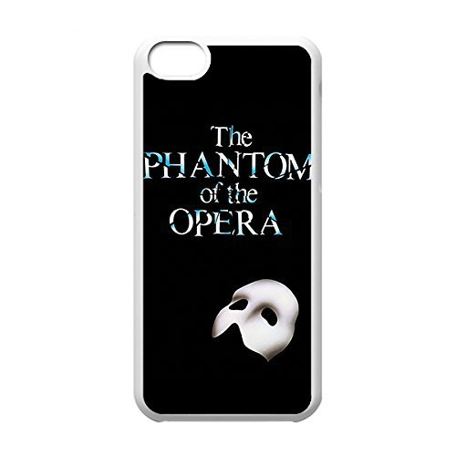 Classical Style Case with Phantom of the Opera Lightweight Plastic Protective Back Cover for iPhone 5C -White031202
