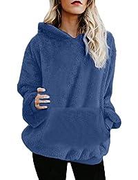 590bee20d57 Women Hoodie TUDUZ Ladies Plus Size Long Sleeve Warm-up Faux Fur Zipper  Pocket Fleece