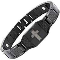 Willis Judd Herren Armband Titan magnetisch Christian Kreuz schwarz mit Karbonfaser Schwarz Einsätze in Geschenkbox... preisvergleich bei billige-tabletten.eu