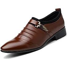 Para De Tela La Artificiales Hombreszapatos Negocios Cuero Zapatos Lona Pu 1W7n7O