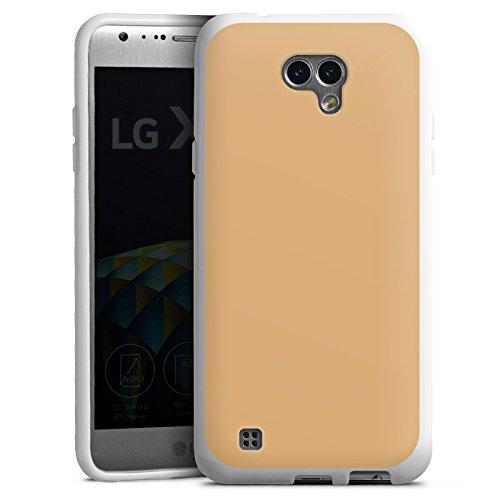 DeinDesign LG X Cam Hülle Silikon Case Schutz Cover Beige Sand Braun Beige Cam Cover