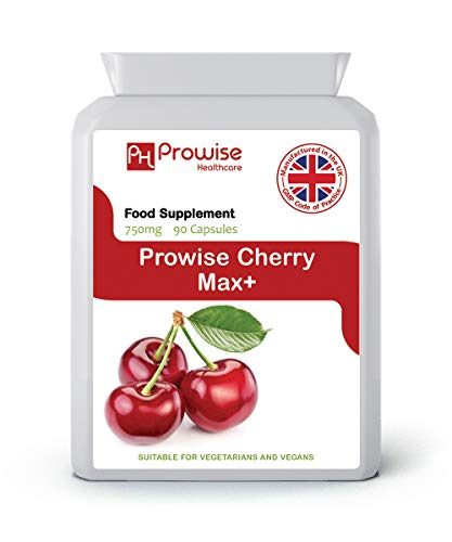 Prowise Healthcare Cherry Max 750mg 90 Capsules - High Strength Freeze Dried Montmorency Cherries - Max 90 Kapseln
