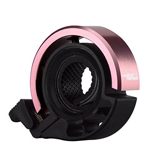 Fahrradklingel im attraktiven Ring-Design - unsere laute Klingel für dein Fahrrad - einfache Montage und große Farbauswahl - geeignet für verschiedene Lenker-Typen von Your Bike Partner (Rosa Klingel)