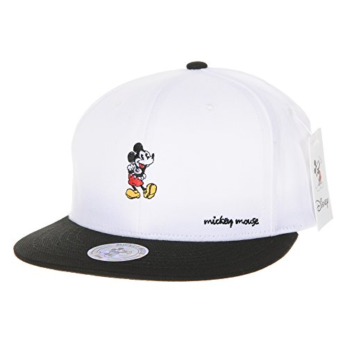 Disney Hat (WITHMOONS Baseballmütze Mützen Caps Disney Mickey Mouse Embroidery Snapback Baseball Cap CR2462 (White))