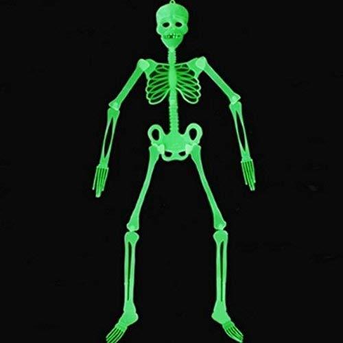Fliyeong Premium Qualität Neuheit Halloween Requisiten Leuchtendes Skelett Party Glow In The Dark Hängende Dekoration 35cm