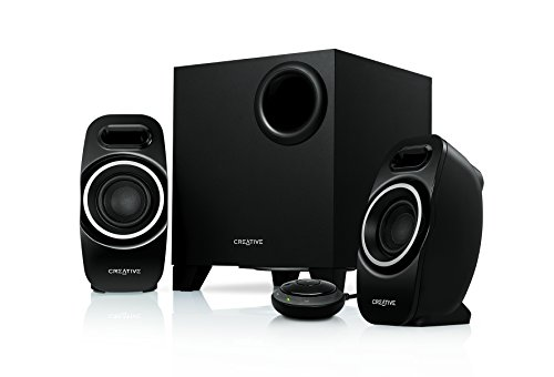Creative T3250 Sistema di Altoparlanti 2.1 con Tecnologia Wireless Bluetooth, Nero