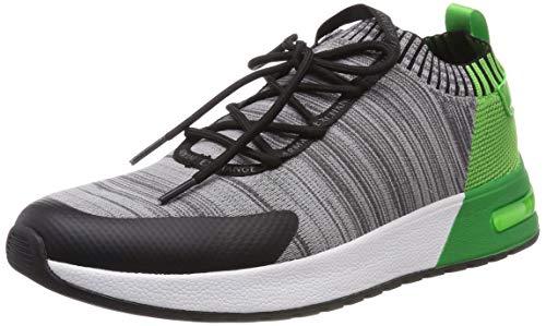 Armani Exchange Herren Dip Dye Knit Sneaker, Grau (Grey Melange/Green L069), 42 EU