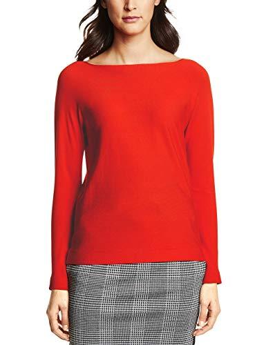 Street One Damen Pullover 300838 Noreen, hot orange, 42