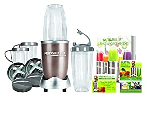 Ensemble Blender Mixeur Superfood Nutrition Extracteur Nutribullet Pro 900 Series 15 Pieces - Livre de Recettes Inclus -Champagne Or