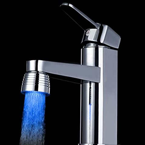 Inovey Colorful LED Led Tap Faucet Light Temperature Chameleon Color Changing Faucet Head Lamp -1