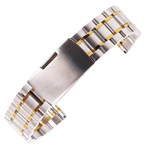 20 millimetri affascinante spazzolato bracciale cinturino solido in acciaio...