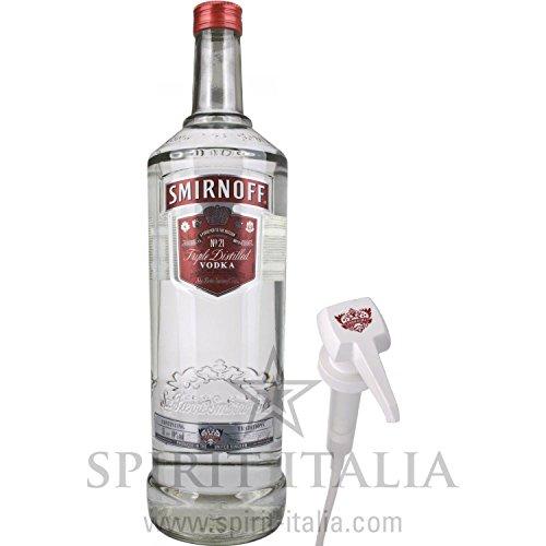 Smirnoff Vodka Red Label Kunststoff-Handpumpe 40% Vol. 40,00 % 3 l.