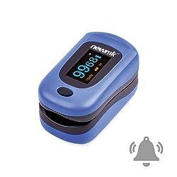 Newnik Fingertip Pulse Oximeter With Audio-Visual Alarm, Royal Blue