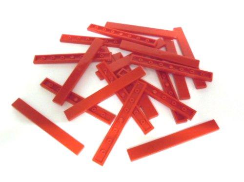"""Preisvergleich Produktbild 20 Stück LEGO """"Fliese 1x8 Noppen"""" in ROT."""