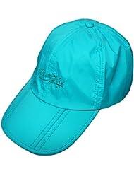 rnow al aire libre plegable y ajustable Gorra de béisbol anti-UV pesca sombrero UPF50+, hombre Niño juventud unisex Mujer, color azul celeste, tamaño Tamaño libre