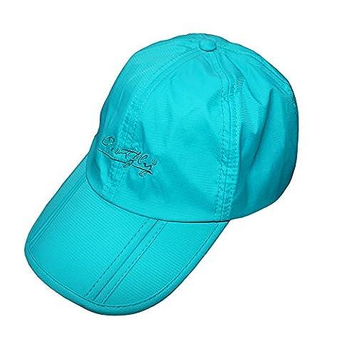 rnow extérieur pliable et réglable casquette de baseball chapeau de pêche anti-UV UPF50+ Bleu Bleu clair Taille unique