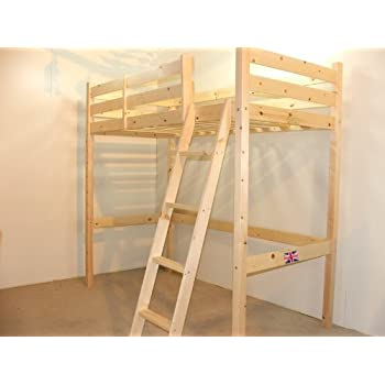 Bunkbed Ladder Pine Bunk Bed Slanted Ladder Solid Pine Amazon Co Uk