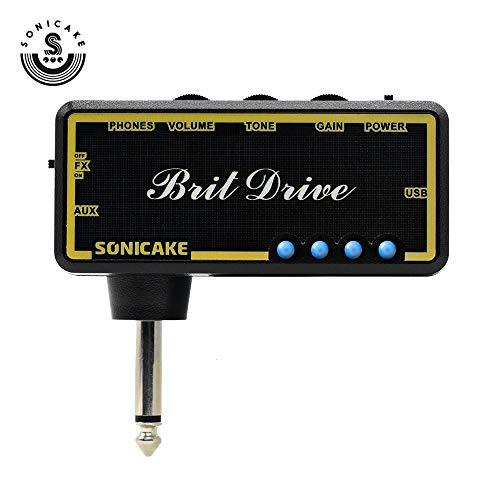 SONICAKE Amplificatore per cuffia per chitarra plug-in Brit Dirve w / h Effetti di chorus e riverbero e tono classico distorsione
