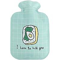 300ml Mini Cute Cartoon Warmwasserflasche warme Hände für Reisen / Schule, grün preisvergleich bei billige-tabletten.eu