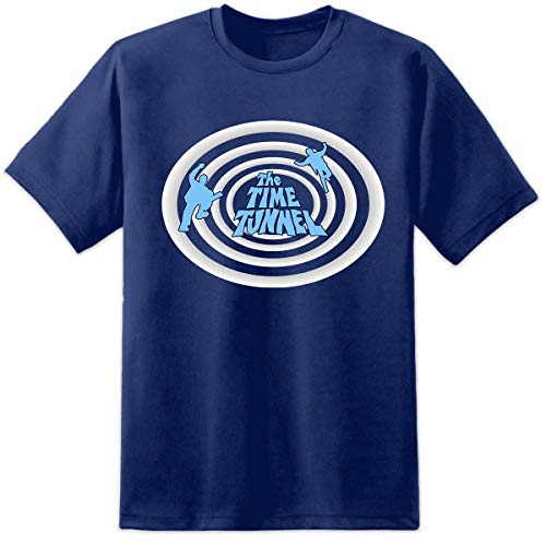 Digital Pharaoh - Herren Time Tunnel T-Shirt Retro TV 60er Jahre 70er Jahre 80er Jahre Vintage - Marine, XXL