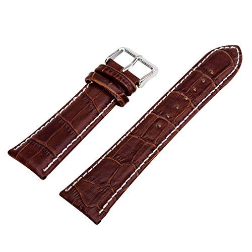 18/20/22/24 mm Bande / Bracelet / Chaine de Montre de Cuir Homme Femme Unisex Boucle Sangle remplacement Deployante Khaki