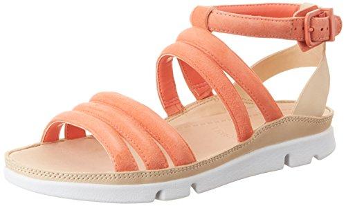 Clarks Damen Tri Nyla Knöchelriemchen Orange (Coral Suede)