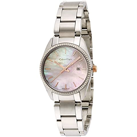 Calvin Klein–Reloj de pulsera analógico para mujer cuarzo acero inoxidable k5r33b4h