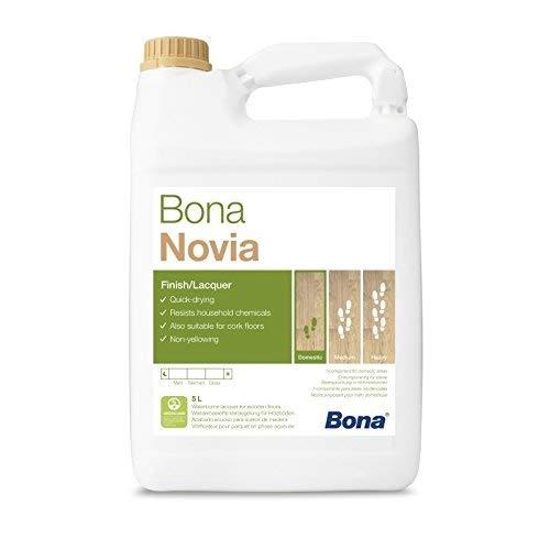 Bona Novia Parkettlack - glänzend - 5 Liter - Versiegelung, 1 K Parkettlack, Wasserlack