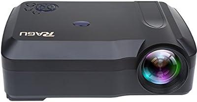Proyector, RAGU RG-01 proyector de 1280 x 768 * Soporte para la resolución 1080P Video en Vídeo casero por USB HDMI VGA AV SD