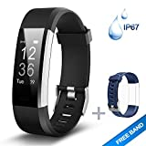 Lintelek Fitness Tracker HR, Activity Tracker, Heart Rate Monitor, Waterproof Smart Fitness Band,Step Counter Wristband Sport Watch, Pedometer Watch Kids Women Men
