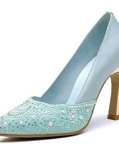 WSS 2016 Chaussures Femme-Bureau & Travail / Décontracté / Soirée & Evénement-Bleu / Rose / Beige-Talon Aiguille-Talons / Bout Pointu-Chaussures à blue-us7.5 / eu38 / uk5.5 / cn38