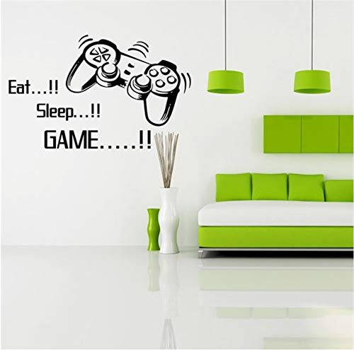 Meaosyy Spiel-Spiel-Wand-Aufkleber Eat Sleep-Spiel-Zitat-Poster Video-Spiel-Kunst-Wallpaper Vinyl-Wandtattoo Für Jungen Zimmer Play Room Decoration - Wallpaper Video-spiel