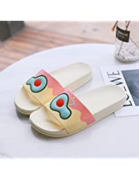 fankou Sandalias de Verano Mujeres Dentro y Fuera de la casa Las Parejas Cute Cool Zapatillas Personalizadas Baños casa Terreno Blando y…