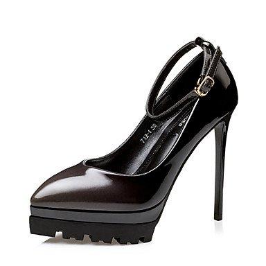 SHOESHAOGE Chaussures Pour Femmes Printemps Été Pu Talons Confort Décontracté Pour Partie &Amp; Soirée Noir Fuchsia Rouge Vin Black