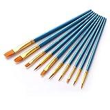 Pennelli, set di pennelli da 10 pezzi Pennelli da artista Forniture per pittura acrilica ad olio per acquerelli