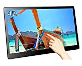 Magedok 15.6 Inch Ultra-HD 4K Multi-Touch Monitor,IPS Screen 3840x2160 Resolution LCD Display,Compact&Slim with USB C Video Output,HDR,Integrated Speakers,Rear Adjustable Bracket,Power Via DC 12V