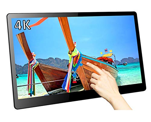 Magedok 15.6 Inch Ultra-HD 4K Multi-Touch Monitor,IPS Screen 3840x2160 Resolution LCD Display,Compact&Slim with USB C Video Output,HDR,Integrated Speakers,Rear Adjustable Bracket,Power Via DC 12V Display-interface Bracket