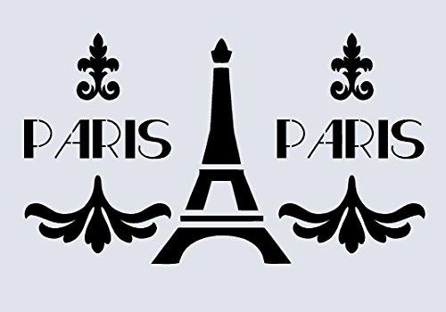 A4 Schablone für Schokopulver Shabby Chic Kissen, im französischen Stil, Möbel, Stoff, Glas, wiederaufklebbare Schriftbänder Mylar (33)
