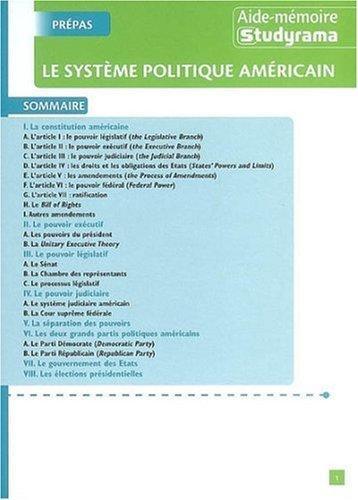 Le système politique américain par Axel Delmotte