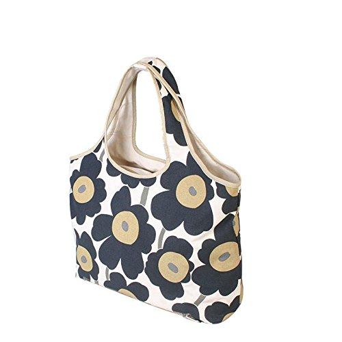 &ZHOU femminile borsa di tela borsa a tracolla grande capacità zaino borsa Messenger di svago del messaggero di moda , black Black